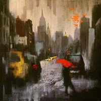 A Rainy Day Walker Fine-Art Print