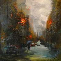 Rainy in South Manhattan Fine-Art Print
