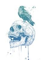 New Skull (Blue) Fine-Art Print