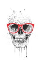 Skull With Red Glasses Fine-Art Print