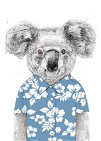 Summer Koala (Blue) Fine-Art Print
