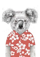 Summer Koala (Red) Fine-Art Print