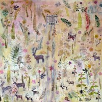 Stags and Flowers Fine-Art Print