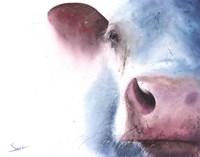 Watercolor Cow Fine-Art Print