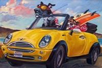 Sunup Surfdogs Fine-Art Print
