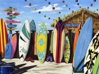 Surf Shack Fine-Art Print