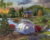 Campers Coming Home Fine-Art Print