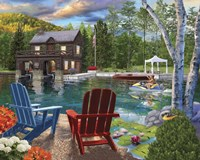 Summer at the Boathouse Fine-Art Print