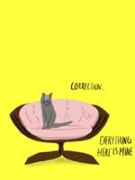 Mod Cats V Fine-Art Print