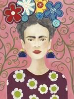 Frida Floral I Fine-Art Print
