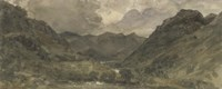 Landscape of Hills and Mountains Fine-Art Print