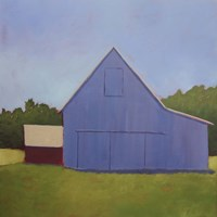 Primary Barns I Fine-Art Print