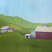 Primary Barns VI Fine-Art Print