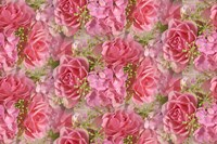 Pink Roses and Hydrangea Fine-Art Print