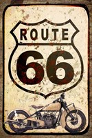 Route 66 Sign With Indian Scout Fine-Art Print
