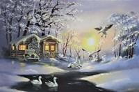 Snow Geese, Cabin Fine-Art Print