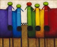 Rainbow Dogs with Apples Fine-Art Print