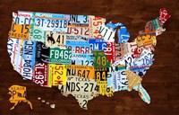 United States of America License Plate Map 2018 Fine-Art Print
