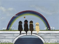 Rainbow Bridge Dogs Fine-Art Print