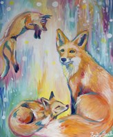 Psychedelic Foxes Fine-Art Print