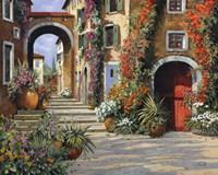 Un'altra Porta Rossa Sulla Salita Fine-Art Print