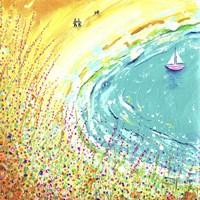 Breezy Beach Walk Fine-Art Print