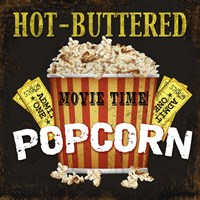 Hot Buttered Popcorn Theater Art Fine-Art Print