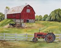 Rural Red Barn B Fine-Art Print
