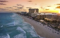 Sunset On Cancun Fine-Art Print