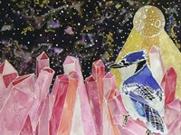 Cosmic Crystal Blue Jay Fine-Art Print