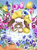 Basket Bunny Fine-Art Print