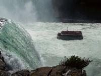 Horn Blower Cruising Below The Falls Fine-Art Print