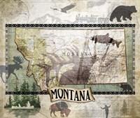Vintage State Montana Fine-Art Print
