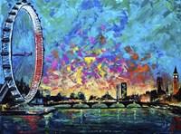 View with London Eye Fine-Art Print