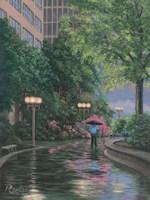 66 Plaza Stroll Fine-Art Print