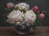 Peonies Bowl of Cream Fine-Art Print