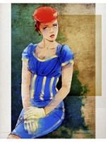 Woman In Blue Fine-Art Print