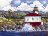 Lighthouse on Rocks Fine-Art Print