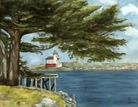 Lighthouse Under Tree Fine-Art Print