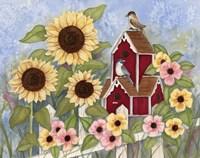 Sunflower Birdhouse Fine-Art Print