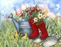 Tulips in Boots Fine-Art Print