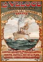 Italian Steamship Travel Ad 1893 Fine-Art Print