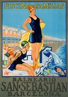 Vintage Spanish Family Pool Fine-Art Print