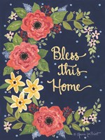 Floral Bless This Home Fine-Art Print