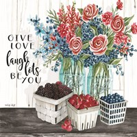 Give Love - Laugh Lots - Be You Fine-Art Print