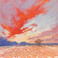 Blaze Winter Sky Fine-Art Print