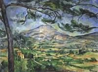 Mont Sainte-Victoire with Large Pine Tree Fine-Art Print