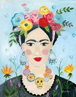 Homage to Frida II Framed Print