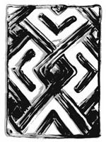 African Textile Woodcut IV Fine-Art Print
