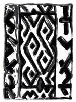 African Textile Woodcut V Fine-Art Print